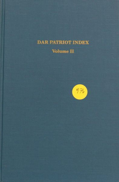 DAR Patriot Index, Volume #2
