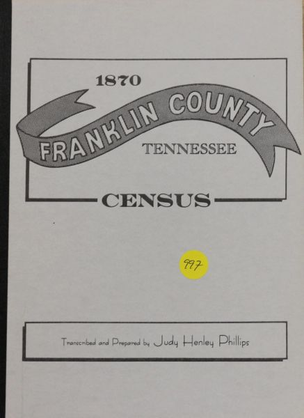 1870 Census of Franklin County, tennessee