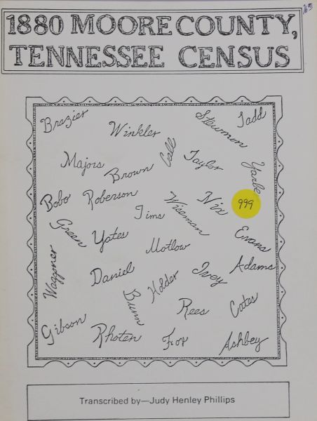 1880 Census of Moore County, Tennessee
