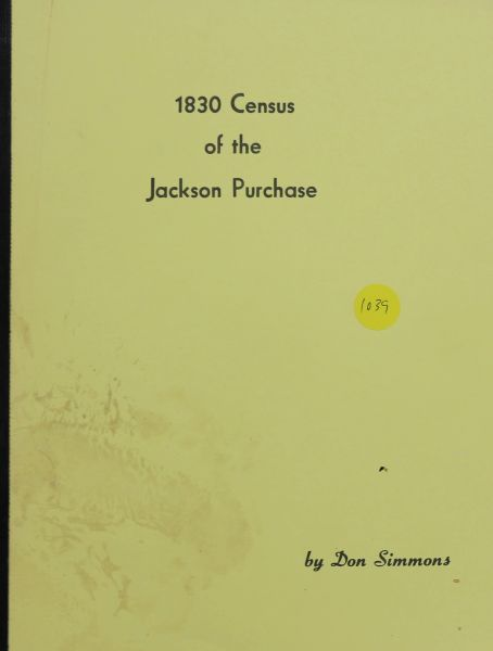 1830 Census of the Jackson Purchase