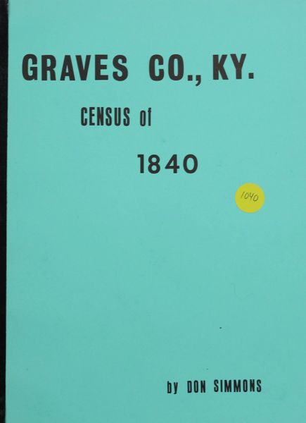 1840 Census of Graves County, Kentucky