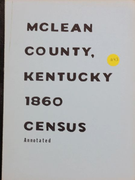 1860 Census of McLean County, Kentucky
