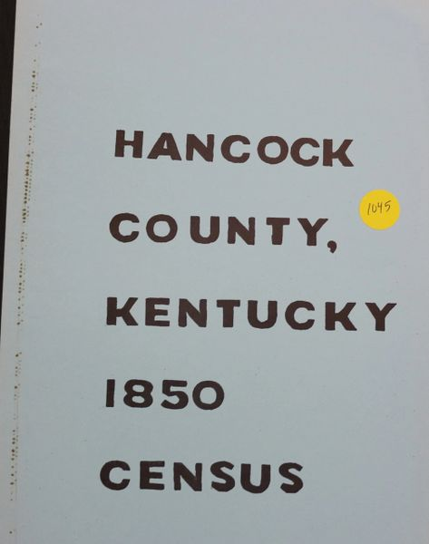 1850 Census of Hancock County, Kentucky