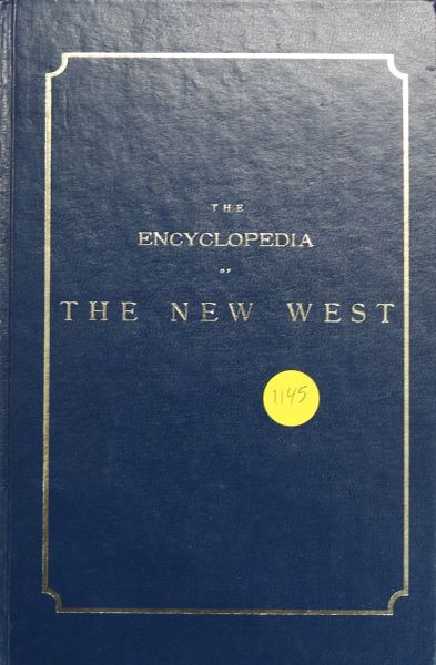 The Encyclopedia of the NEW WEST