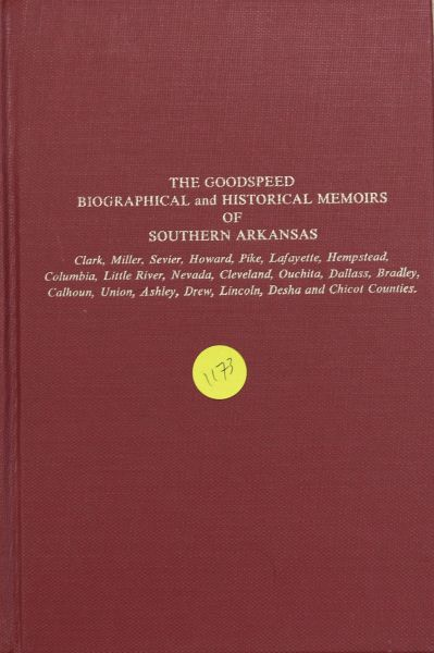 Biographical and Historical Memoirs of Southern Arkansas