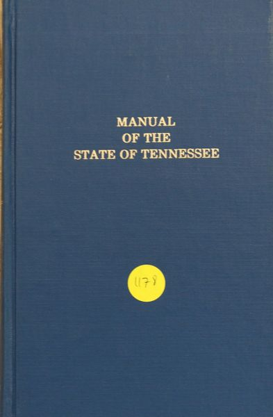 Manuel of the State of Tennessee