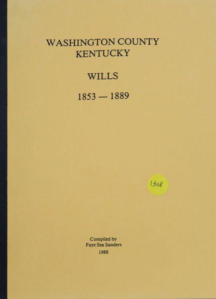 Washington County, Kentucky Wills, 1853-1889