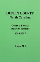 Duplin County, N.C. Court of Pleas & Quarter Sessions, 1791-1795. ( Vol. #3 )