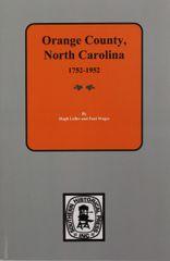 Orange County, North Carolina, 1752-1952.