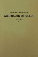 Duplin County, North Carolina Deeds, 1784-1813.