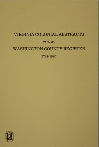 Washington County, Virginia Records, Vol. 34.