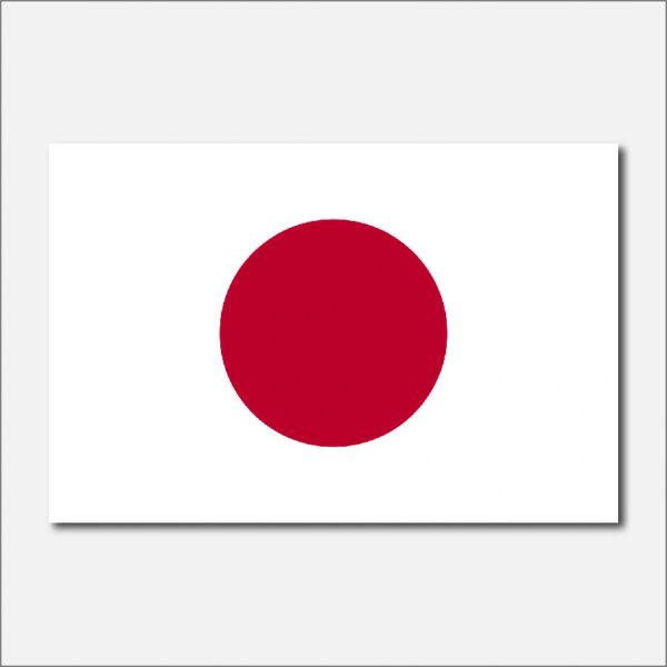 JAPAN COUNTRY FLAG VINYL DECAL STICKER