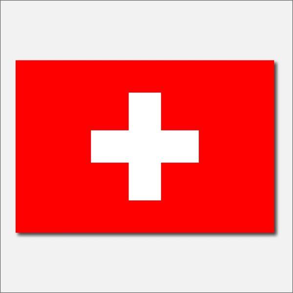SWITZERLAND COUNTRY FLAG VINYL DECAL STICKER