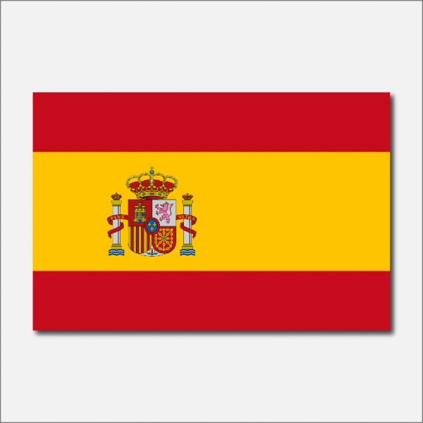 SPAIN COUNTRY FLAG VINYL DECAL STICKER