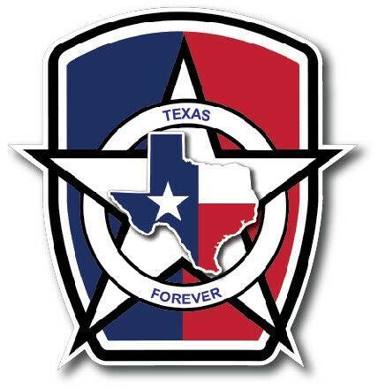 Texas Badge Decal State Strong Sticker Vinyl Car Truck Automobile USA Bumper