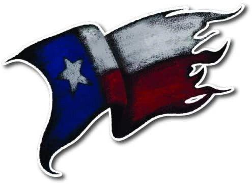 Texas Flag Tattered 3M Vinyl Decal Sticker Texan Auto USA Car Truck Bumper