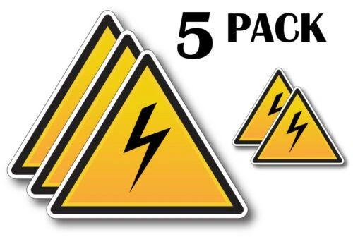 5 Pack Danger High Voltage Decal Warning Safety Sticker Vinyl Work Sign Car USA