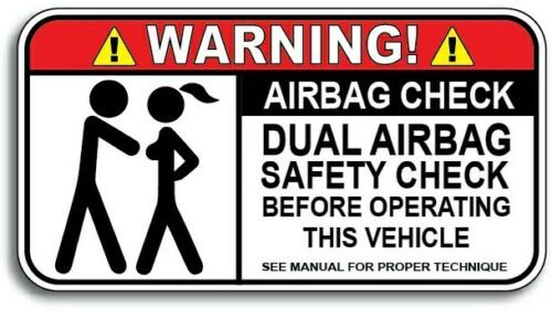 Airbag Check Decal Car Truck Funny Adult Humor Offensive Joke Sticker Vinyl Auto