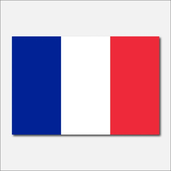 FRANCE COUNTRY FLAG VINYL DECAL STICKER