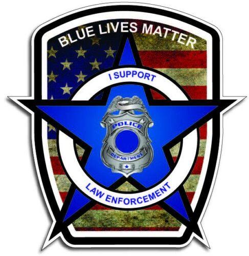 Blue Lives Matter Badge Decal Sticker Car Truck Police Officer TBL Thin USA Door