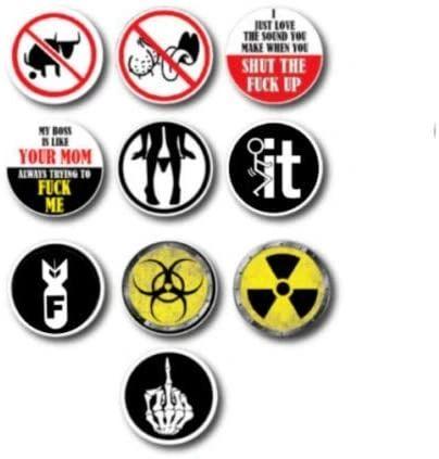 10pk Hard Hat Crude Humor Funny Joke Decal Sticker Toolbox Welder Helmet Tool US