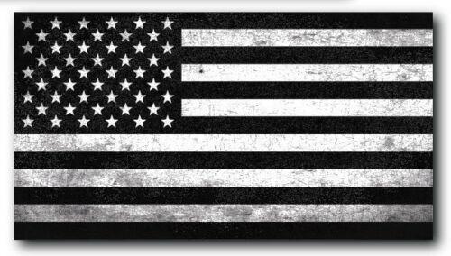 Black And White American Flag Decal Car Truck Sticker Window Bumper Vinyl Auto