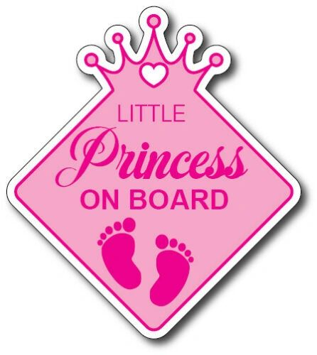 Little Princess On Board Decal Funny Baby Kid Pink Car Truck Sticker Vinyl Auto