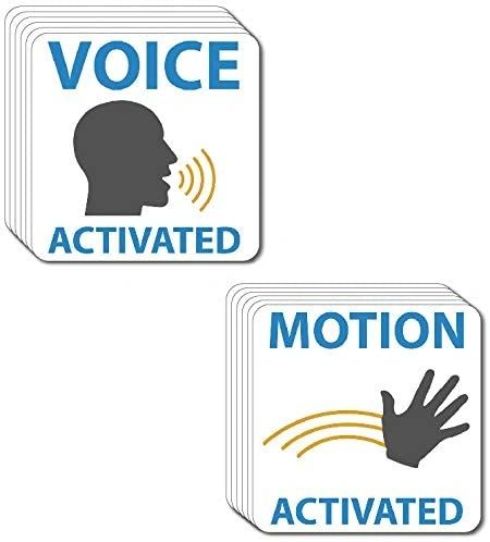12 Pack Motion And Voice Activated Decal Home Sticker Vinyl Security Camera Door
