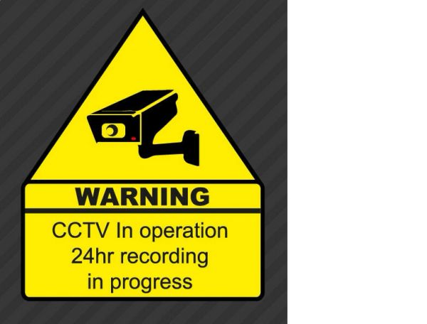 CCTV Warning Security Decal Vinyl Home Alarm Camera Window Attention Anti Theft