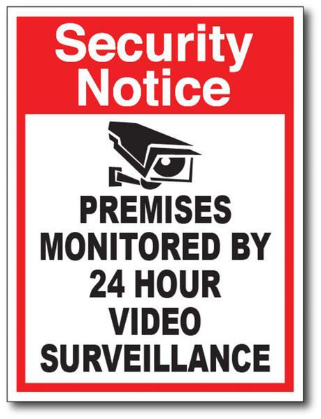Red Security Sticker Decal Car Truck Vinyl Window Camera Warning Alarm