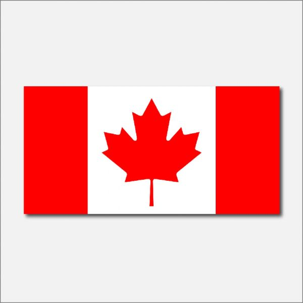 CANADA COUNTRY FLAG VINYL DECAL STICKER
