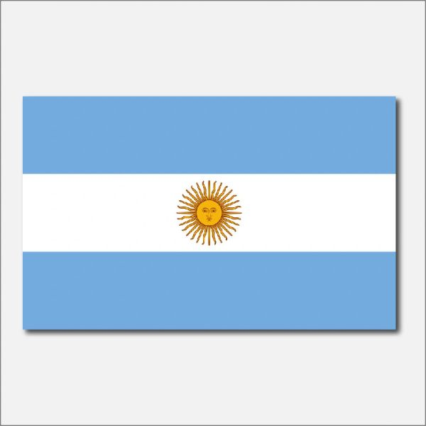 ARGENTINA COUNTRY FLAG VINYL DECAL STICKER