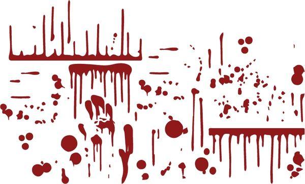 blood splatter combo pack Decal Sticker for Car Truck Vehicle SUV Boat Kayak