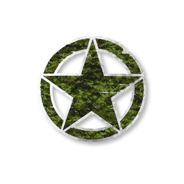 Army Star Vinyl Decal Car Truck Laptop sticker