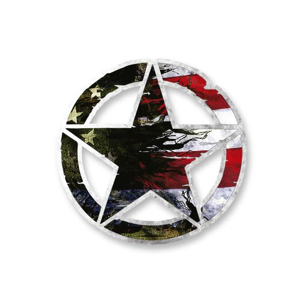 US FLag Army Star Vinyl Decal Car Truck Laptop sticker Military Veteran