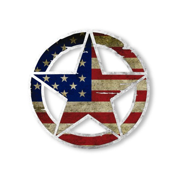 US Army Star Pentagram Vinyl Decal Car Truck Laptop sticker Military Veteran