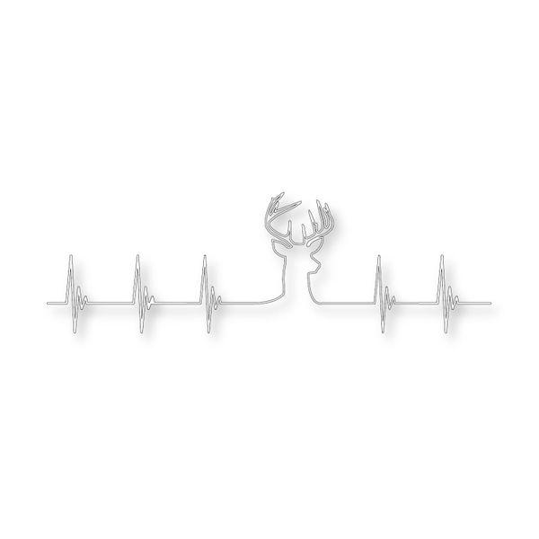 Deer Heartbeat Vinyl Sticker Decal