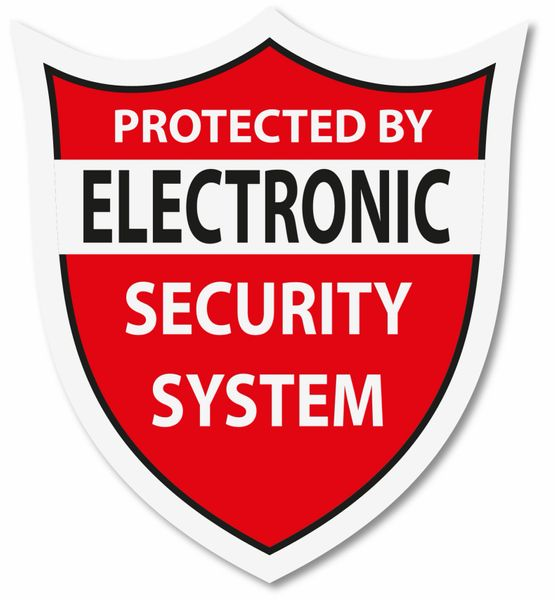 WARNING PROTECTED BY ELECTRONIC SECURITY SYSTEM DECAL
