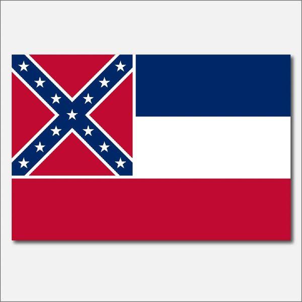 MISSISSIPPI STATE FLAG VINYL DECAL STICKER