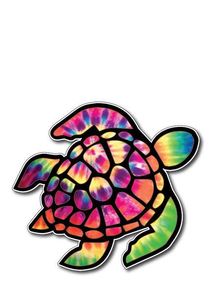 Sea Turtle Decal Sticker Vinyl 3M Car Truck Laptop Tie Dye Psychedelic window