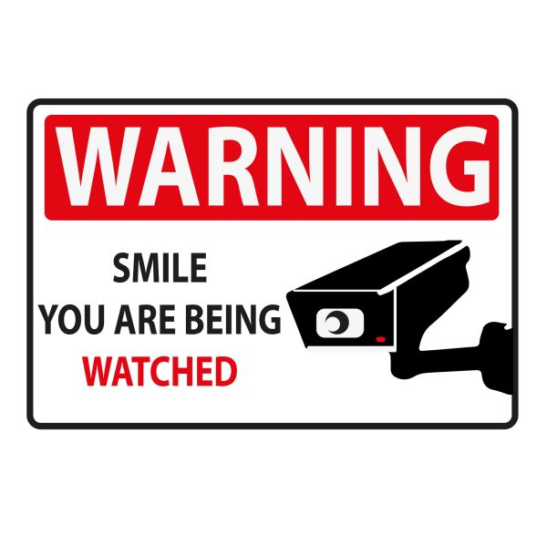 WARNING YOU ARE BEING WATCHED VINYL DECAL
