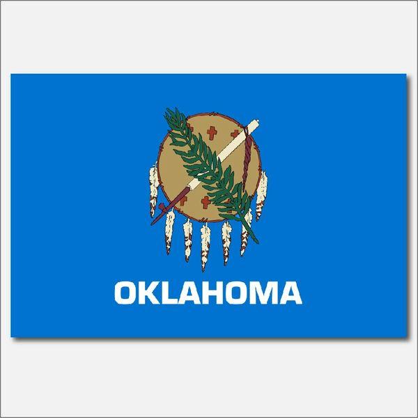 OKLAHOMA STATE FLAG VINYL DECAL STICKER