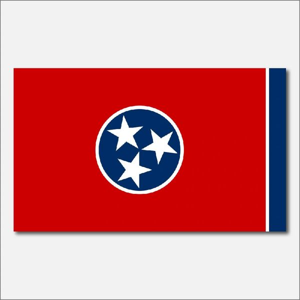 TENNESSEE STATE FLAG VINYL DECAL STICKER