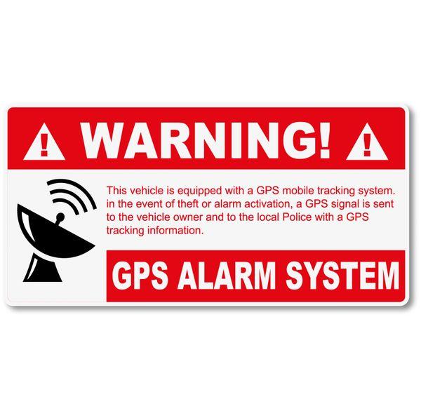 WARNING GPS WARNING THEFT DETERRENT VINYL DECAL