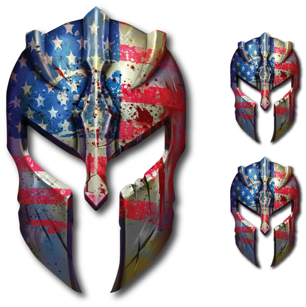 USA Molon Labe Spartan Helmet Decal Gun Rights Sticker 2nd Amendment Military