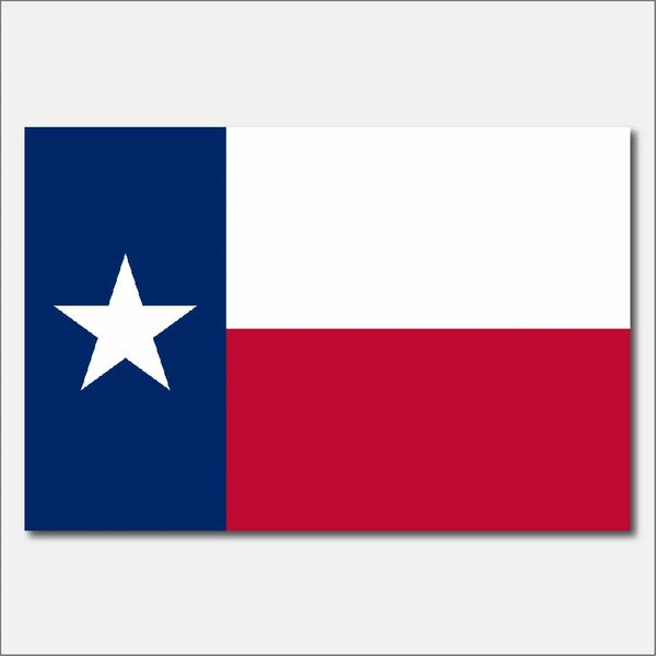 TEXAS STATE FLAG VINYL DECAL STICKER