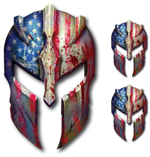 USA Molon Labe 3 pack Spartan Helmet Decal Gun Rights Sticker 2nd Amendment Military
