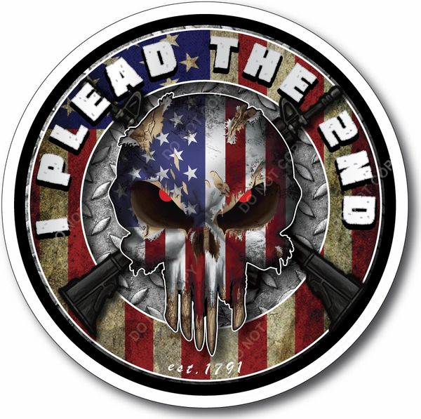 American Flag Skull Decal Gun Rights Sticker 2nd Amendment Come and Take Them NRA USA