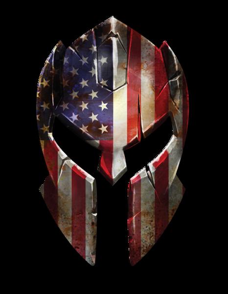 Molon Labe Spartan Helmet Police Officer American Flag Thin Blue Line decal sticker