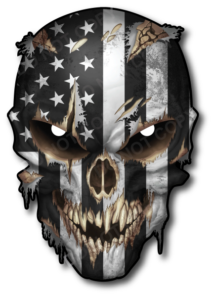 LARGE USA AMERICAN FLAG SKULL STICKER DECAL FOR CARS TRUCKS WINDOWS BUMPERS LAPTOPS VEHICLE